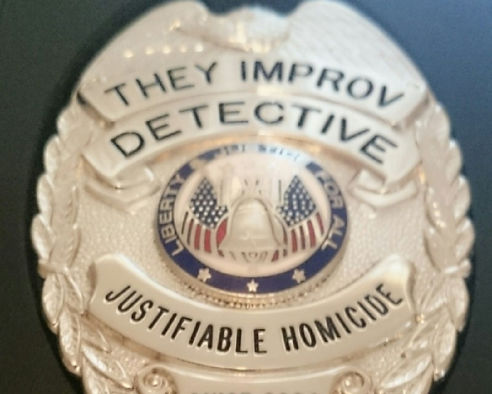 murder mystery badge